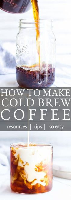 Homemade Cold Brew Coffee, Best Cold Brew Coffee, Cold Coffee Drinks, Making Cold Brew Coffee, Cold Brew Ratio, Cold Brew Coffee Recipe Ratio, French Press Cold Brew, Coffee Recipes, Cocoa Recipes