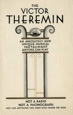 History of Technology: 1930s RCA Victor Theremin Brochure   FTL Design