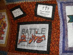 T-Shirt Quilt Block, who says they all have to be just square?