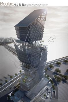 The RIBA President's Medals Student Awards :: Boulaq Abo El Ela Textile And Fashion Industry Mixed High Rise Building by Salma Tag El Din - Arab Academy of Science  Technology, Cairo Cairo Egypt