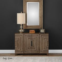 Modern with two-toned detailing, the Uttermost Layton Geometric Console Cabinet has a mid-century vibe with clean lines and a smooth, flat front. Accent Furniture, Bathroom Furniture, Home Furniture, Furniture Stores, Brown Furniture, Painting Furniture, Bathroom Cabinets, Wooden Furniture, Antique Furniture