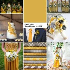 SPICY MUSTARD - Perfect for an Autumn wedding | Pantone 2016 | Pantone colour of…