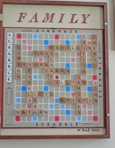 family names scrabble board