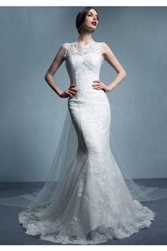 3d07d4acc08c3 ウェディングドレス タンクトップ チャペル チュール ノースリーブ ファスナーマーメイドライン 結婚式 二次会 ドレス Halz0035