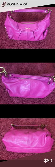Coach hobo Used only once. Magenta. No scratches no marks Coach Bags Hobos