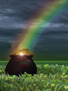 """May you find your Pot of Gold: Happy St Paddy""""s Day! St Pattys, St Patricks Day, Saint Patricks, Irish Eyes Are Smiling, Photo D Art, Somewhere Over, Irish Blessing, St Paddys Day, Cecile"""