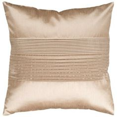 """Surya Center Pleated 18"""" Champagne Throw Pillow #lampsplus  #mystyle"""