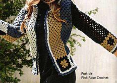 Crochet golden jacket