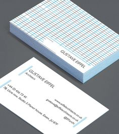 Gustave Eiffel: structural engineers rely on the strength of grids; using regular, compacted shapes to create sturdiness, just as Gustave Eiffel did for the Eiffel Tower. Harness that strength for your Business Cards with this mathematically rigid design. #moocards #luxebymoo #businesscards