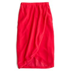 "Midlength straight skirt.  21 3/4"" long in front, 24 1/2"" long in back.  Silk."