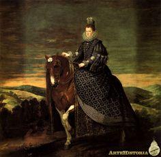 Margarita de Austria, a caballo - Obra - ARTEHISTORIA V2