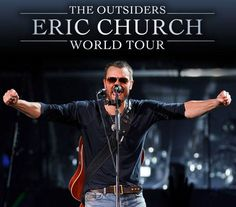 "NEWS: The country music artist, Eric Church, has announced a spring leg to ""The Outsiders World Tour."" On this leg of the tour, he will be hitting cities across North America with support from Brothers Osborne, Drive-By Truckers, The Cadillac Three and JD McPherson, on select dates. You can check out the dates and details at http://digtb.us/14XDDSn"