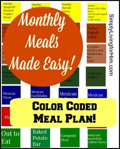 FREE Monthly Meal Plan
