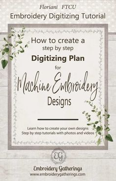 Learn how to digitize with Floriani FTCU embroidery software. Step by step written lessons with FREE pdf download!