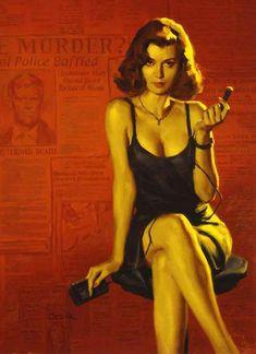 Official Glen Orbik Website - Dangerous Dames & Pulp Noir/Colorado Kid by Stephen King Pin Up Girl Vintage, Vintage Art, Hollywood Glamour, Arte Do Pulp Fiction, Dibujos Pin Up, Robert Mcginnis, Fashion Mode, Pulp Art, Pin Up Art