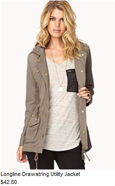 gray military jacket with gold accents over basics