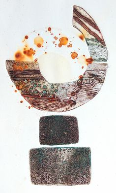 Clare Maria Wood Artist | COLLAGRAPH ARC SERIES Collagraph Printmaking, Gelli Printing, Collage Art Mixed Media, Types Of Art, Art Techniques, Cool Artwork, Creative Art, Art Lessons, Making Ideas