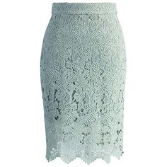 Chicwish Crochet of Rose Skirt - mint lace skirt, pale blue lace skirt, mint lace pencil skirt, pale blue lace pencil skirt