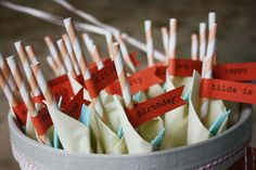 Paper Straw Flags