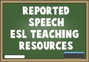 Reported Speech ESL EFL Teaching Resources - This page provides a set of engaging teaching resources about reported speech. Students learn how to use reported speech to compare and give information about what other people said as well as report questions and answers to other people.
