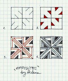 Zentangle - #Zentangle - hand drawn art - zentangle patterns - Zapletkano: Patterns 10-11