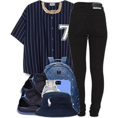 A fashion look from May 2014 featuring skinny jeans, black shoes and mcm backpack. Browse and shop related looks.