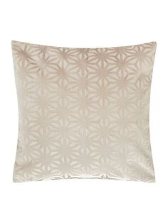 Cross velvet cushion, cream