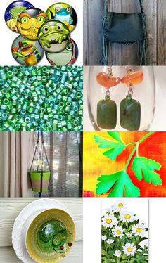 Ribbit and Green by AllAboutTheButtons on Etsy--Pinned with TreasuryPin.com