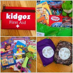 First aid kits, different colored backpacks, activities and books - everything your children need for travel and vacations! Kids Travel Activities, That One Friend, Thomas And Friends, First Aid Kit, Travel With Kids, Your Child, Just In Case, Vacations, Parents