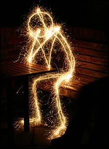 Painting with light, or in this case, a sparkler!