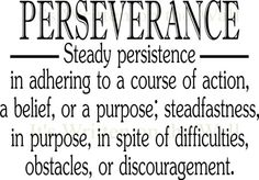 PERSERVERANCE DEFINITION