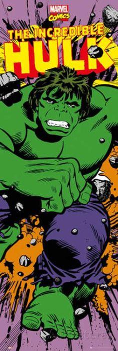 Door Wall Poster - The Hulk #Marvel