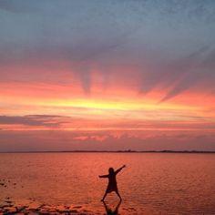 A stunning Sandy Neck Bay in Cape Cod sunset courtesy of @tjasaowen.