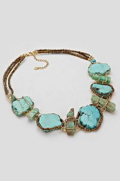 Turquoise Statement Necklace | Women's Clothes, Casual Dresses, Fashion Earrings & Accessories | Emma Stine Limited
