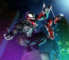 ArtStation - In Our Web - Venom Spiderman Fan Art, Alex Colvin Venom Spiderman, Marvel Venom, Marvel Art, Marvel Heroes, Comic Book Characters, Comic Character, Character Design, Spider Art, Spider Verse