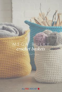 Crochet baskets to put all of your crochet supplies? I don't see why not!