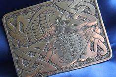 CELTIC BIRD BUCKLE, Polished Pewter Celtic Bird Belt Buckle