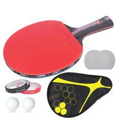 Marke Qualität 7 sterne tischtennisschläger Ddouble Pickel-in Ping Pong Schläger tenis de mesa tischtennis