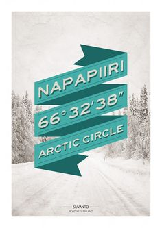 Print - Napapiiri by William Boulay, via Behance