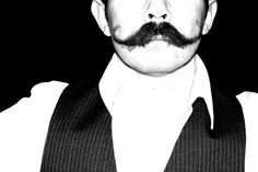 Mustache. Utah. Black and white. High Contrast. Photo by Harvey Brand Imagery