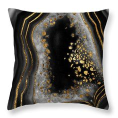 Agate Copper Gold Glam Night Throw Pillow for Sale by Anitas and Bellas Art