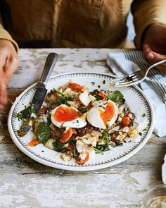This comforting hash recipe is essentially a deconstructed fish pie but a little bit more rustic and with extra crispy bits. Recipe by Georgina Hayden. Luxury Fish Pie, Hash Recipe, Recipe Recipe, Cheesy Leeks, Watercress Recipes, Potato Toppings, Delicious Magazine, Just Cooking, Fish Dishes
