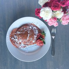 Pink Protein Pancakes - A Healthy Valentines Breakfast Idea!