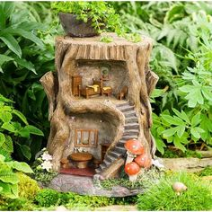 Wind & Weather 2-Story Lighted Fairy Garden