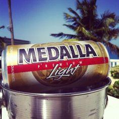 You have to try a local Medalla beer when you are in Puerto Rico!