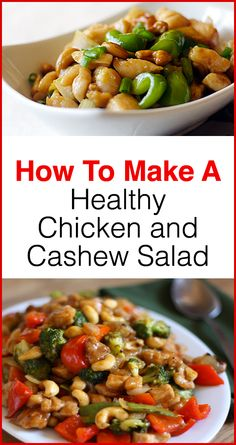 Click here to discover how to make a healthy Chicken and Cashew salad