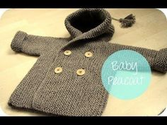 Baby Knitting Patterns ▶ VERY EASY crochet baby / girl's cardigan - chevron car...