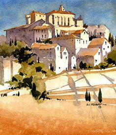 Iain has been painting in watercolor for over 20 years, and after working as a residential architect he decided to focus his love of watercolor and design on a career as an architectural illustrator, establishing Iain Stewart Architectural Illustration in 1996.