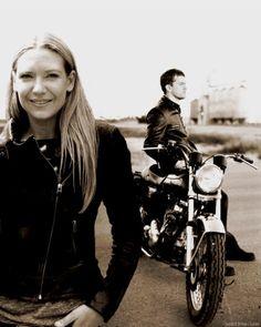 Leather-clad Motorcycle Torvson - Anna Torv and Joshua Jackson Fan Art (32311834) - Fanpop