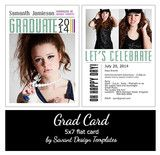 Let's Celebrate Senior Grad Card Template by Savant Design Templates | Savant Design Templates for Photographers